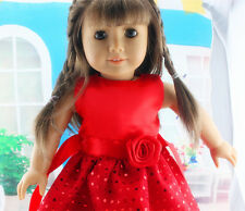 2017!  new fashion red clothes dress for 18inch American girl doll party b45
