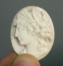Antique Carved Shell Cameo Roman /Greek Goddess Ceres Demeter Quality Grand tour