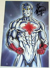 1988 Kevin Maguire SIGNED JLA Justice League Art Post Card ~ Captain Atom