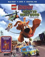 LEGO Scooby-Doo: Haunted Hollywood (Blu-ray/DVD 2016 2-Disc, Includes Figurine)