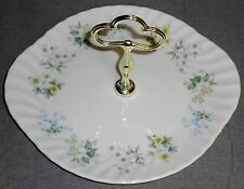 Minton SPRING VALLEY Handled Cake Plate or Tidbit Tray ENGLAND