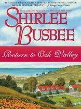 Return To Oak Valley By Shirlee Busbee - Hardcover Large Print