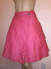 NEW!  Anthropologie 9-H15 STCL Postmark SZ 00  Red  Tiered Wrap Skirt Linen Silk