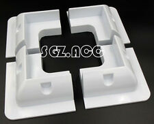 NEW 4 x White Corner Bracket Set Solar Panel Mounting Kit - High Quality Finish