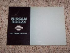 1992 Nissan 300ZX 300 ZX Owner's Owners User Manual 2+2 Twin Turbo 3.0L V6