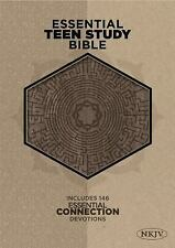 The NKJV Essential Teen Study Bible Gray Cork LeatherTouch