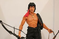 "RARE 1/6 Hot Toys MMS06 Rambo First Blood Part 2 John J. Rambo 12"" USA Stallone"