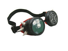 BLACK RED CYBER GOGGLES WITH SPIKES PCB CIRCUIT BOARD FAN GRILL CYBERGOTH RAVE