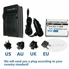 Rechargeable Battery + charger for Olympus LI-90B/LI-92B,TG-1,TG-2,TG-3,TG-4