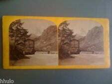 STB942 The Alpine Club Suisse Mont Cervin Zermatt photo STEREO albumen 1870
