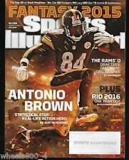 2015 Sports Illustrated Pittsburgh Steelers Antonio Brown Subscription Issue NRM
