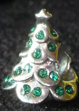 UNBRAND 925 SILVER CHRISTMAS TREE STAR TOP GREEN CRYSTAL LAYER Europe Charm Bead