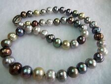 Honora Signed H & 925 STERLING Beautiful Multi Color Pearl Necklace  Unworn