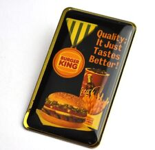 Coca Cola Coke Burger King Hamburger Pin Button Badge Anstecknadel USA 1980