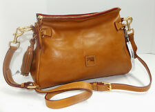 NEW Dooney & Bourke Florentine Leather Medium Zip Crossbody NATURAL