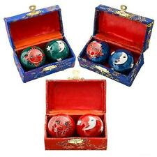 2 SETS CELESTIAL CHINESE BAODING HEALTH STRESS RELIEF THERAPY BALLS #AA92