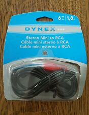 DYNEX DX-AD104 6' MINI-TO-RCA STEREO AUDIO CABLE OPEN BOX ITEM