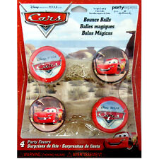 CARS BOUNCE BALLS (4) ~ Birthday Party Supplies Favors Toys Disney McQueen Red