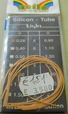1 conf tubici siliconico milo 0.28mm x0.80mm pesca mf bd41