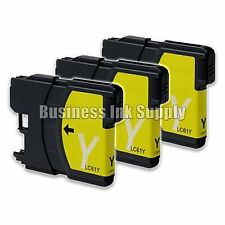 3 YELLOW New LC61 Ink Cartridge for Brother MFC-495CW MFC-J410W MFC-295CN LC61Y