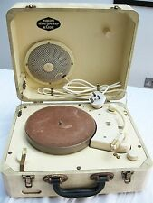 PHILIPS Disc Jockey Major vinyl record player turntable deck 1950s 'Mock Croc' !