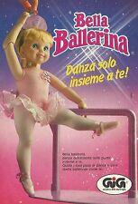 X4076 Bella Ballerina danza solo insieme a te - GIG - Pubblicità 1990 - Advertis