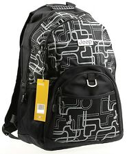 JEEP BACKPACK COLLEGE SCHOOL RUCKSACK TRAVEL HIKING GYM CABIN LAPTOP BAG - BLACK