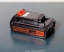 BLACK & DECKER GENUINE LBXR20 20v MAX 1.5 AH Lithium-Ion BATTERY NEW OEM