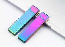 USB Cigarette Cigar Electronic Lighter Rechargeable Flameless Windproof MetalL07