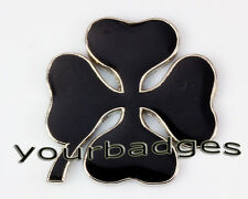 Enamel Chrome Black Alfa Romeo CLOVERLEAF Car Badge 145 156 GT MiTo
