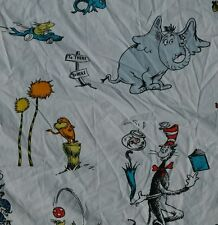 RARE HTF Pottery Barn Kids DR SEUSS Cat In The Hat Twin Size Flat Sheet Bedding
