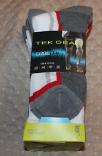 NEW IN pkg - 6 Pairs Mens TEK GEAR  COOL TEK CREW SOCKS SHOE SZ  6 - 12