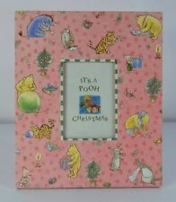 It's a Pooh Christmas pink photo frame