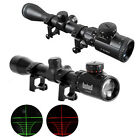3-9X 32/40mm Red/Green Dot illuminated Sight Rifle Scope Rail Mount Fixture G1CG