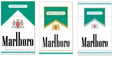 3 Collectible Marlboro Cigarette Packs -- MENTHOL, MENTHOL GOLD and SILVER
