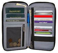 TRAVELON RFID BLOCKING EXECUTIVE ORGANIZER PASSPORT CASE WALLET/WORLD WIDE SHIP
