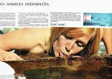 PUBLICITE ADVERTISING 116  1966  Evian ( 2pages) eau minérale