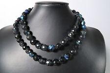 Alte böhmische Glasperlen B1 schwarz facettiert Old Bohemian Trade beads Afrozip