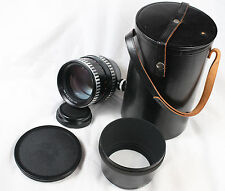 Carl Zeiss Sonnar 180mm f/2.8 Zebra P6 Pentacon 6 six lens with hood and case
