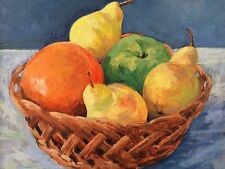 Still Life Fruits Impresionist Oil Painting