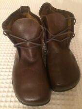vintage KALSO EARTH SHOE negative heel LEATHER work Ankle boot MENS 13.25