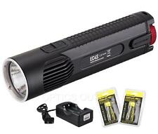 NiteCore EC4S 2150 Lumen CREE XHP50 LED Flashlight w/ 2x18650 Batteries, Charger
