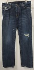 Abercrombie & Fitch REMSEN LOW RISE SLIM STRAIGHT 34x32 Button Fly Jeans Pants