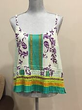 Plenty By Tracy Reese Anthropologie L Tank Top Multi-color Spaghetti Strap NWOT