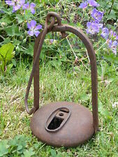 Rare French 18th Century  Iron Oil Lamp, Betty Lamp, Cruise Lamp 16th 17th 19th.