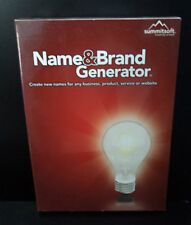 Name & Brand Generator  WIN 2000/XP/VISTA  NIB   Summitsoft, Windows  NEW