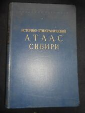 Historical and Ethnographic Atlas of Siberia 1961-1st - Russian/Siberian History