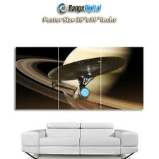 "STAR Trek USS Enterprise HD FOTO POSTER rd-9231 (38 ""x19"" Pollici)"