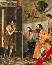 RETURN OF THE LOST PRODIGAL SON PAINTING CHRISTIAN BIBLE ART REAL CANVAS PRINT