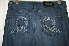 "ROCK & REPUBLIC women's new NWOT ROTH boot cut dark jeans 25"" extra long tall"